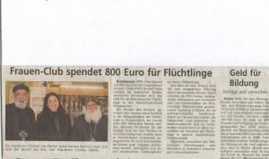 Koptisches Kloster-HX-Spende Flüchtlinge Borgentreich 2015