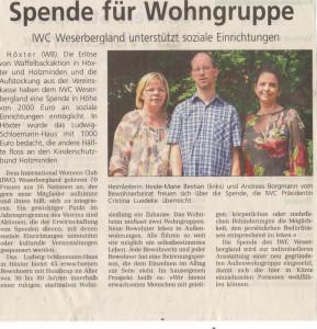 Spendeübergabe Schloemann Haus HX