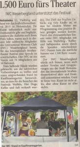 Strassentheater 2015-IWC Spendeaktion